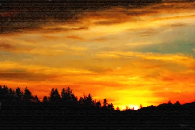 January sunset pastel