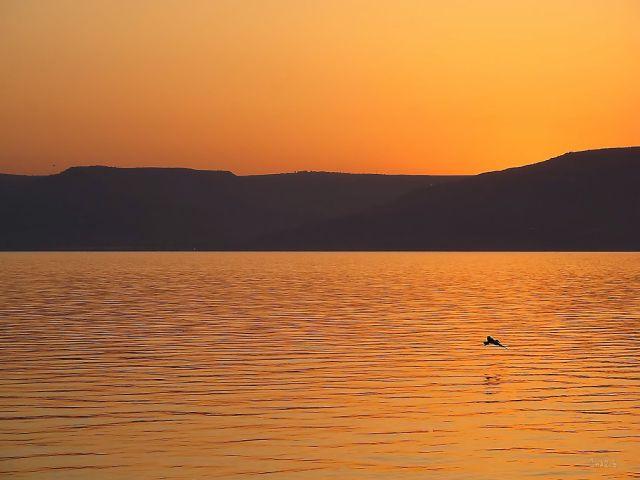 Dawn on the Sea of Galilee