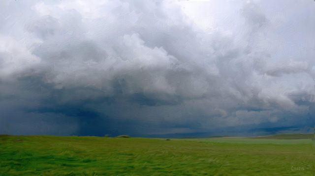 Cowboy Trail storm impasto ch