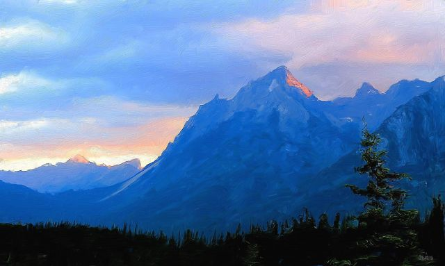 mountains dawn banff ch