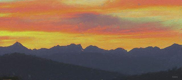Purcell sunset gouache ch