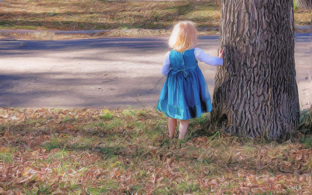 Little girl tree oil