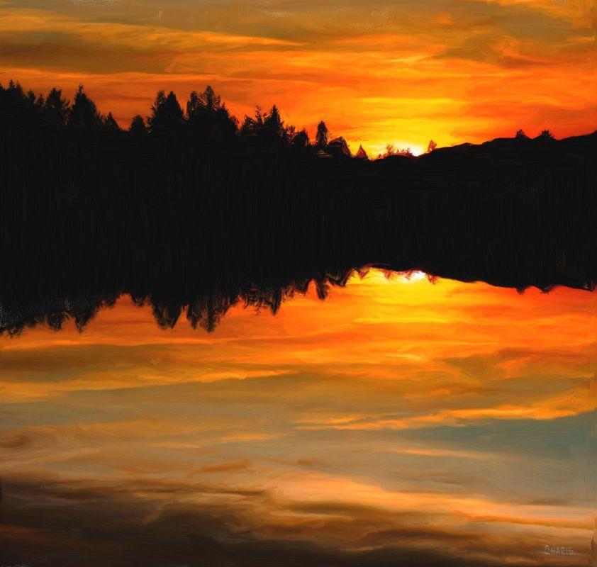 sunset angelfire acrylic ch june