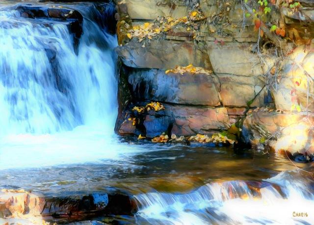 St Mary's Falls acrylic ch