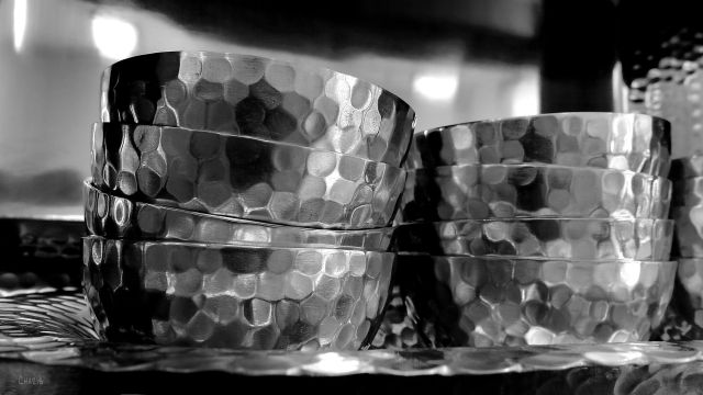 metal bowls vessels silver hammered ch bw IMG_6625