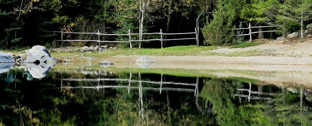 IMG_6304 lazy lake fence reflection autumn crop fb