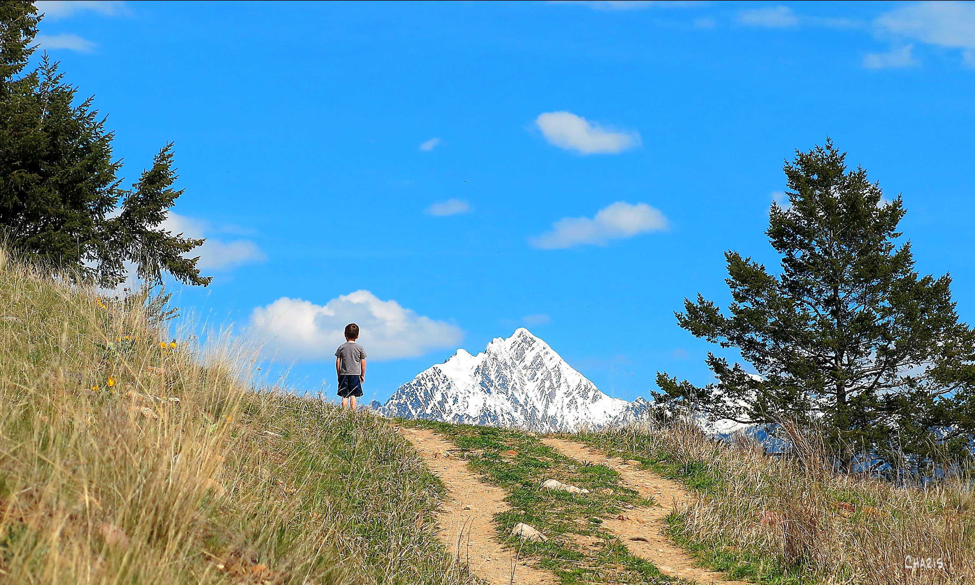 eager hill ch trail path climb view fisher