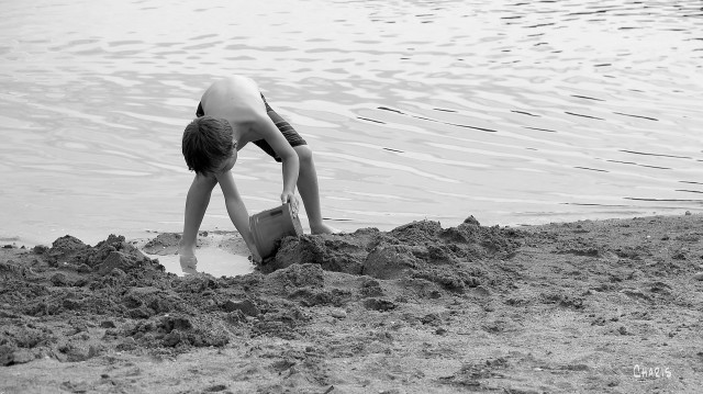 boy on beach bw ch rs IMG_9520
