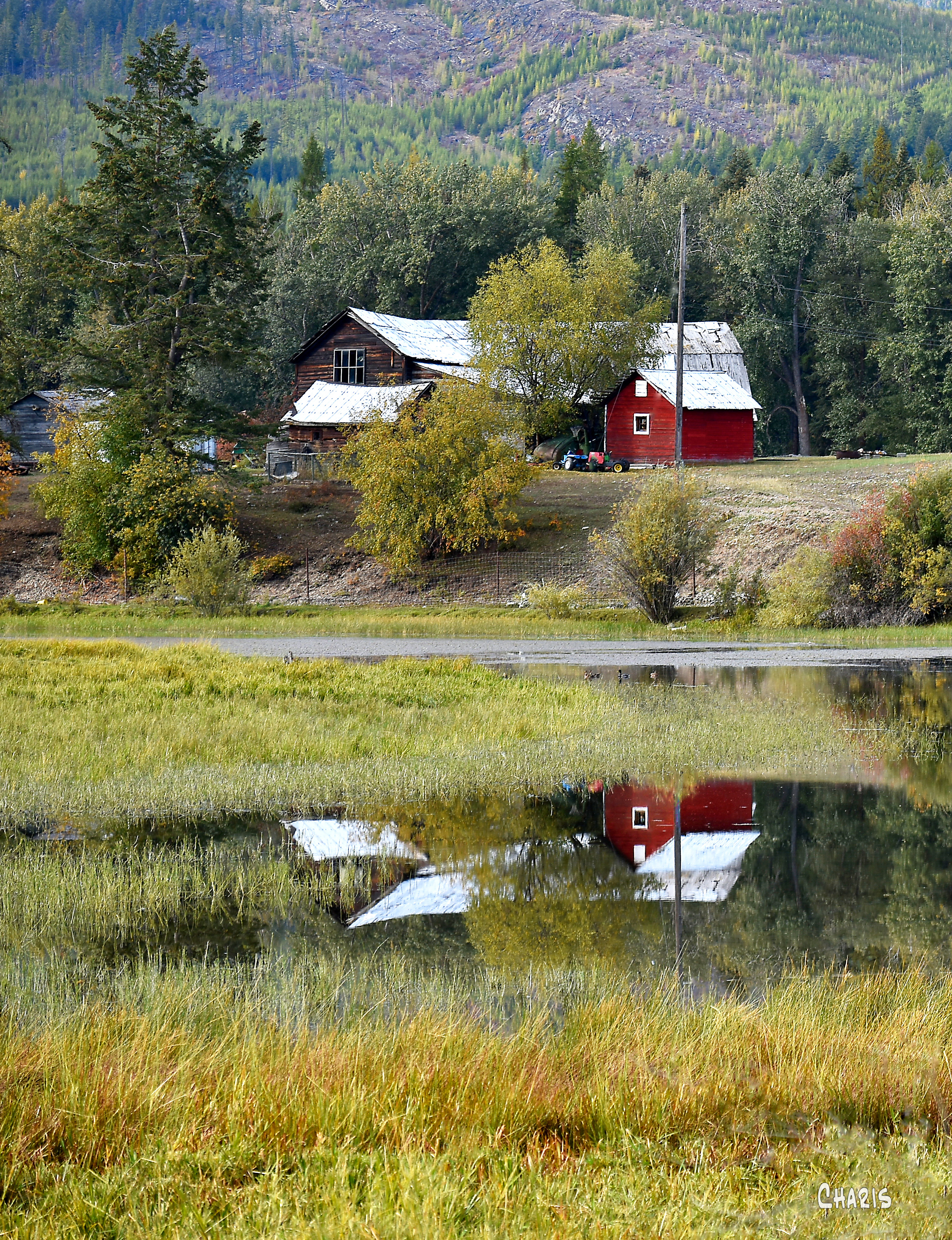 Moyie barn reflection crop ch DSC_0215 - Copy