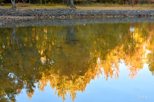 Moyie stone wall reflection October ch rs DSC_0406